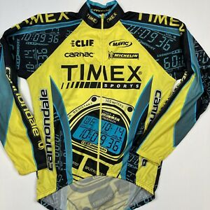 Cannondale Mens Medium Light Weight Cycling Jacket All Over Print Timex