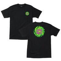 Santa Cruz Slime Balls Wheels T Shirt Black Skateboard New Size M L XL XXL 2XL