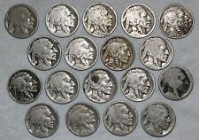 Lot of (18) Buffalo Nickels (6) Dated (12) No Dates