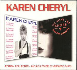 KAREN CHERYL - OU SONT LES ANGES / A L'ENVERS A L'ENDROIT - CD COLLECTOR