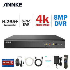 ANNKE 8CH 4K H.265+ 8MP HDMI DVR Video Recorder for Home Security Camera System