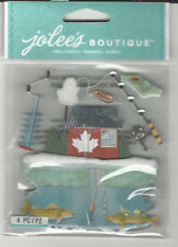 Jolee's ICE FISHING 3D Stickers outdoors