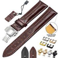 ZLIMSN Croco Genuine Leather Watch Band Strap 18 20 22 24mm Cowhide High Quality
