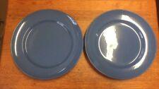 "Pair 1920's Vintage MOORCROFT Powder Blue 8"" plates"