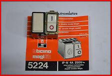 INTERRUTTORE AUTOMATICO MAGNETOTERMICO 1P+N 4A SERIE MAGIC BTICINO ARTICOLO 5224