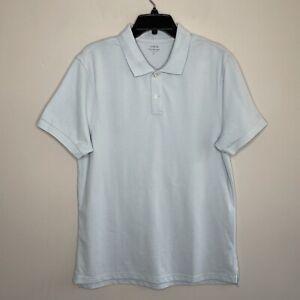 J CREW Mens Sz Large L Flex Pique Polo Shirt NWT Sky Blue Collared Stretch