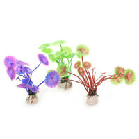 Artificial Fish Tank Plastic Plants Aquarium Landscaping Shell Water Grass Decor