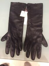 Dents ladies long leather gloves