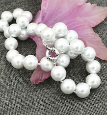 """Fashion Genuine 14 mm South Sea shell pearl necklace 18 """"AAA"""