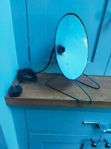Vintage retro enamel shade industrial type table lamp