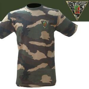 T-Shirt militaire en Camouflage brodée 2°REP  LÉGION ÉTRANGÈRE - Taille XL / 112