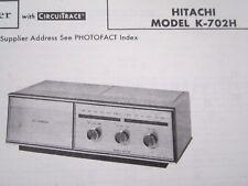 HITACHI K-702H RADIO RECEIVER PHOTOFACT