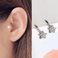 AAA Cezch Zircon Little Star Non Piercing Clip Earring Ear Cuff Tragus Earring#