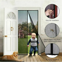BLACK MAGNETIC DOOR SCREEN - Flying insect mosquito bug net screen garden flies