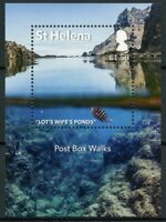 St Helena Landscapes Stamps 2017 MNH Post Box Walks Tourism Fish Fishes 1v M/S