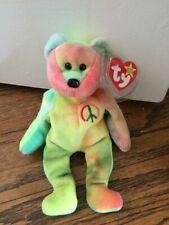 TY Peace Bear Beanie Baby - Rare Retired Original 1996 - Pristine Mint Condition
