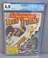 TEEN TITANS #1 (Batman, Aquaman, Flash, Wonder Woman app) CGC 6.0 DC Comics 1966