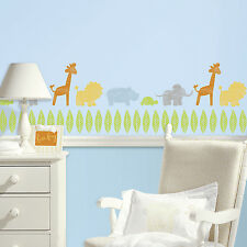 ANIMALS ON PARADE WALL DECALS Kathy Davis 69 Baby Nursery Animal Stickers Decor