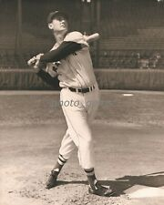 1940s Ted Williams Yankees Follows Flight of Ball 11x14 Archival Photo