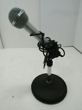 OLD VINTAGE REALISTIC HIGHBALL 600 MICROPHONE HEAVY DESK TABLE STAND WORKS