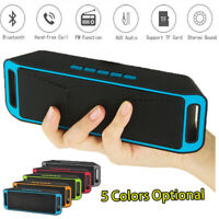 Portable Wireless Bluetooth Speaker Super Bass Stereo USB MP3 Player FM Radio HQ