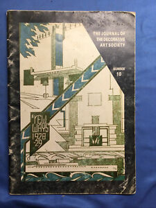 Journal of the Decorative Arts Society - Number 10; NEW WAYS 1928-1929