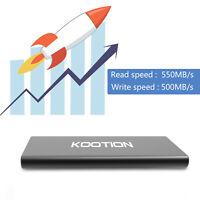 1TB USB 3.1 Portable External SSD USB-C Drive Ultra-Slim Mobile Drive For Laptop