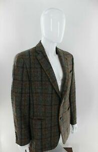 42R Classic Harris Tweed HandWoven Wool Herringbone Blazer Sport Coat Jacket