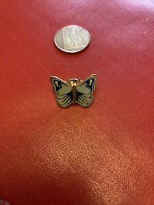 Blue Butterfly Pin Badge
