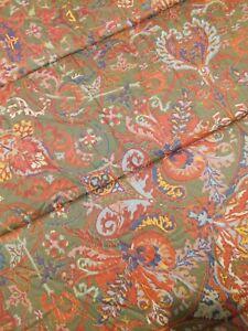 Vintage Ralph Lauren Full Queen Galahad Paisley Comforter Red Medieval GUC