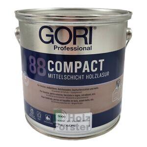 GORI 88 Compact Mittelschicht Holzlasur für Außen, Standardfarbtöne