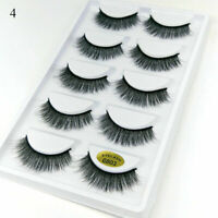 5 Pairs 3D Faux Mink Eyelashes Natural Thick Long Dramatic Fake Lashes Extension