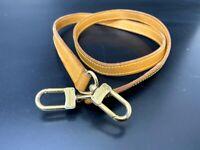 """Authentic Louis Vuitton Leather Shoulder Strap Beige Length 39""""  A-1055"""
