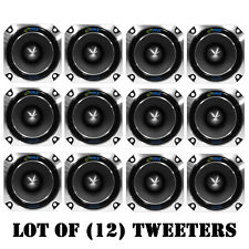 Lot of (12) Pyle PDBT28 Heavy Duty Super Car Tweeters - 150 W RMS - 300 W PMPO