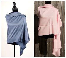 Ladies Pashmina Cashmere Silk Shawl Wrap Scarf Travel Blanket Winter Pink Stole