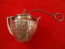 Sterling Silver Teapot Tea Ball with Design (#2280)