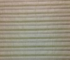 """KASLEN CHENILLE STRIPE NATURAL DITZY HEAVY UPHOLSTERY FABRIC BY THE YARD 57""""W"""