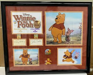 Winnie The Pooh Sterling Holloway & John Fiedler  Signed Autographed Frame 22x17
