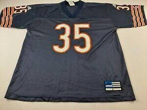 Vintage Adidas Chicago Bears Anthony Thomas 35 Men M Navy Blue Jersey Knit P3