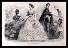 PARIS FASHIONS FOR APRIL 1863  VICTORIAN ENGRAVING
