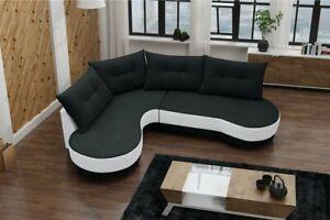 Modern Corner Sofa ABI  Round-Shape Cushions Various Colours