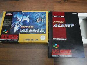NO GAME Super Aleste Super Nintendo SNES box and manual