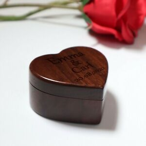 Personalised Engraved Wood Custom Ring Box For Valentines Day - Wife Gift