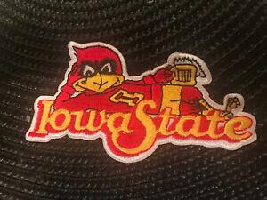 "ISU Iowa State Cyclones Vintage Embroidered Iron On Patch 4"" x 2"" RARE NICE"