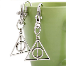 Creative Harry Potter Deathly Hallows Mini Metal Key Chain Keyring Kids