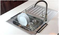 Deep Dish Drying Rack Drainer In-Sink Metal Compact Antibacterial Farmhouse Sink