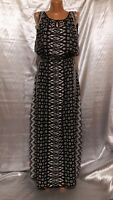 Laura Ashley Long Sundress Dress Lined Elasticated Waist Polyester Size 8/12/38