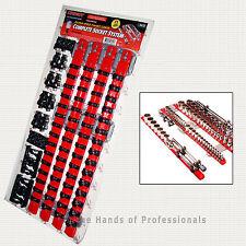 Ernst Mfg 8470 RD like 8370 w/TWIST LOCK Socket Organizer System Red