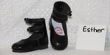 Jasmines Cottage Design Esther Black Leather Shoe SD 70mm fits Wiggs & Lasher
