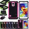 Hybrid Rugged Combo Hard Soft Shockproof Rubber Cover Case For Samsung Galaxy S5